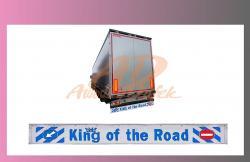 zástěra zadní--2400x350-KING OF THE ROAD-bílá-modré písmo