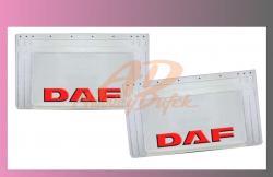 zástěra kola DAF 640x360-pár--bílá--červené písmo