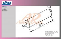 tlumič výfuku IVECO T-DAILY 59-12-kulatý