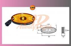 LED FLATPOINT II oranž.24V/1,3W +kabel