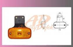 světlo poziční oranž.12/24V +rovný držák