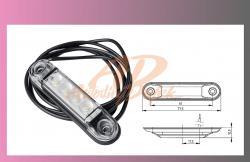 světlo obrys.LED bílé 12/24V- /4-LEDKY/