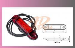 světlo obrys.LED červené 12/24V- /4-LEDKY/