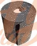 pás protiskluzový-guma 5000x 250x 8 mm