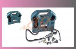 kompresor 220V 2HP1,1KW 8bar +příslušenství 9ks-v kufru- bezolejový  - 1