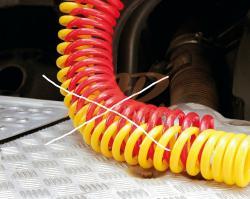 rukáv ochranný-na vzduch.hadice-červený- pr.11cm,d=220cm  - 3