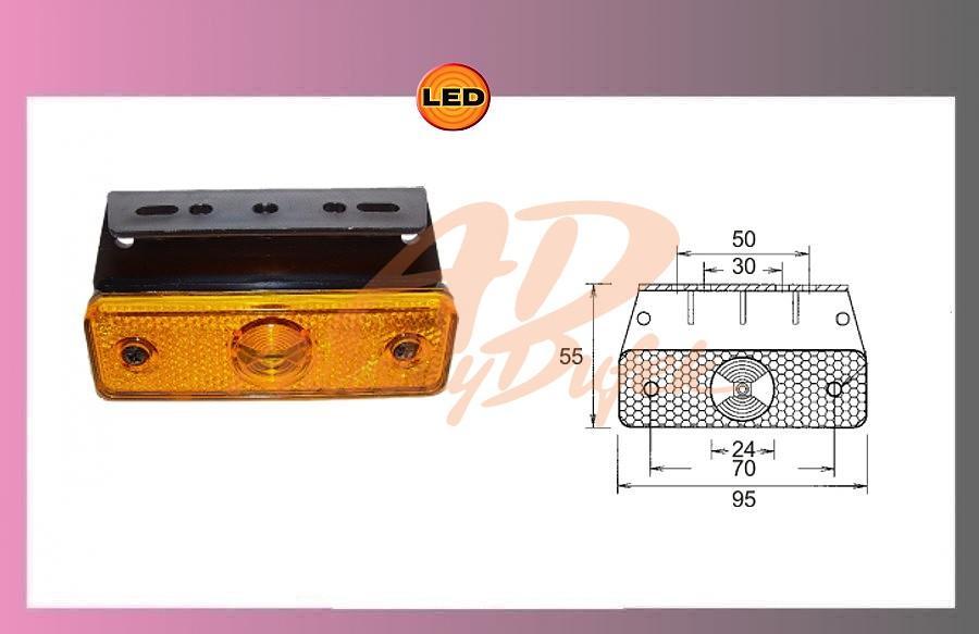 LED-FLATPOINT oranž.24V/1,3W+držák