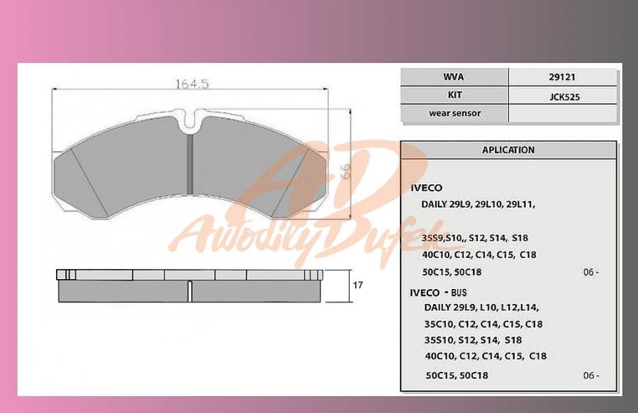 desky brzdové IVECO DAILY C13-přední