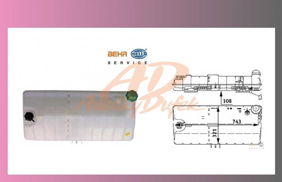 nádrž expanzní MAN F2000 -BEHR