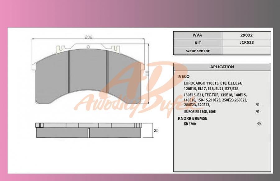 desky brzdové IVECO ECARGO 110-320-ST