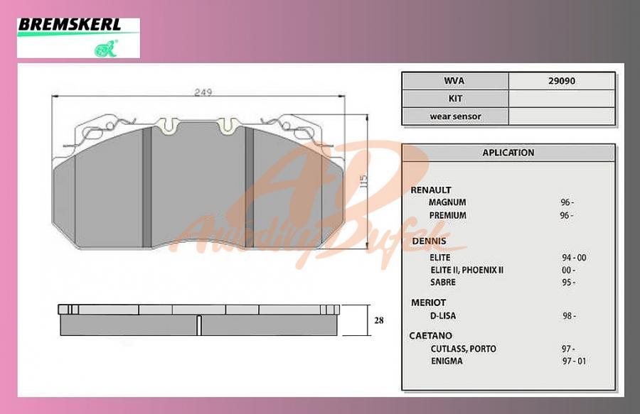 desky brzdové RENAULT MAGNUM,PREMIUM-BK