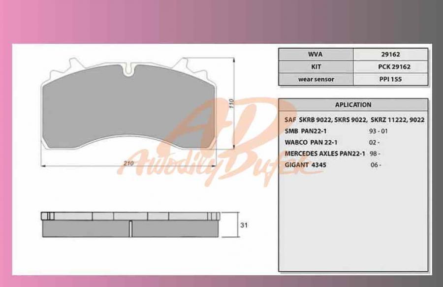 desky brzdové SAF SKRB 9022W-PROFI PART