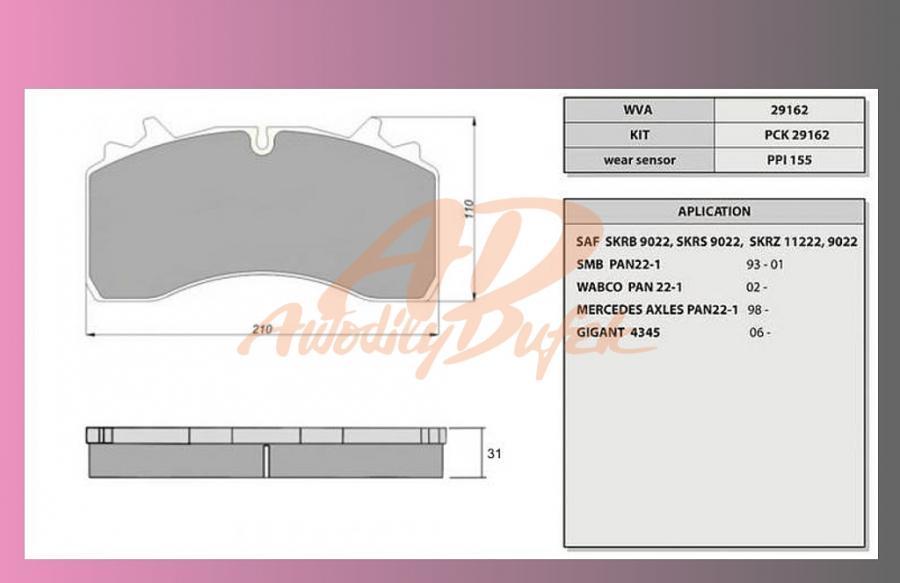 desky brzdové SAF SKRB 9022W-ORIGINAL