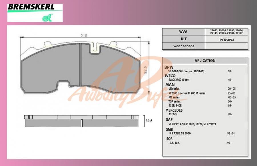 desky brzdové BPW-SB3745-BREMSKERL-8010