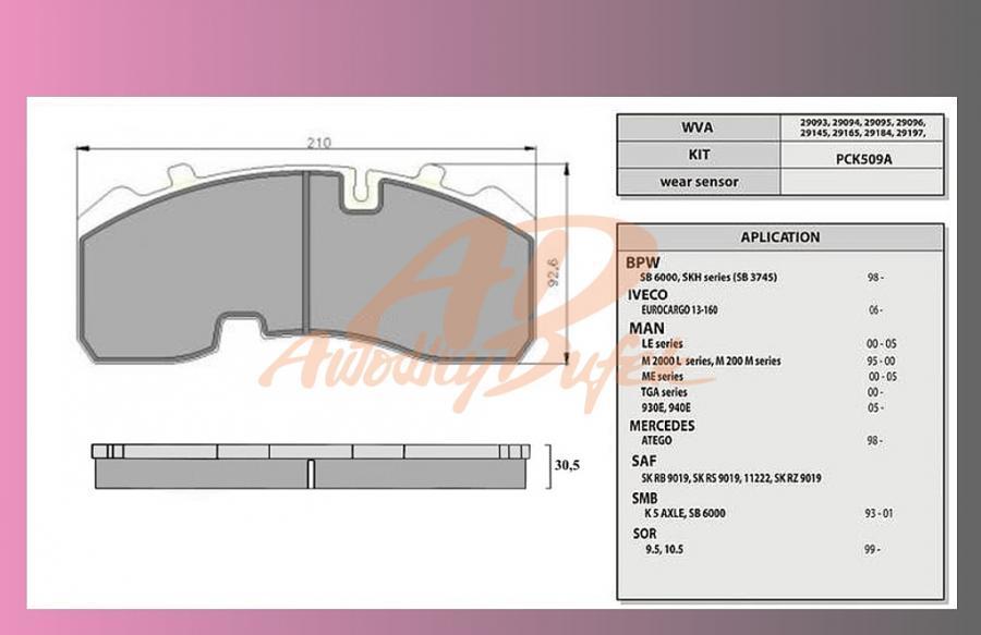 desky brzdové BPW-SB3745-