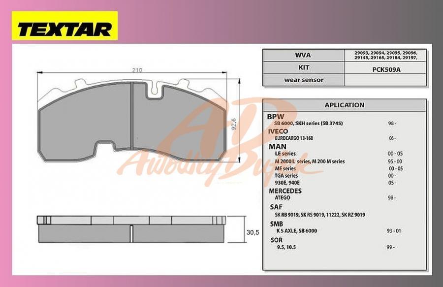 desky brzdové BPW-SB3745-TEXTAR