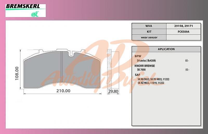 desky brzdové BPW,SAF -BREMSKERL-8010