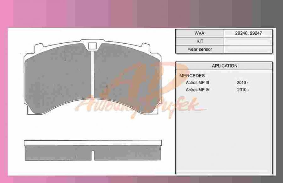 desky brzdové ACTROS-MP4-zadní-BREMSKERL