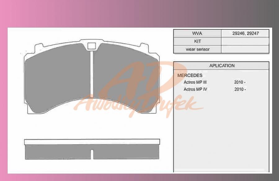 desky brzdové ACTROS-MP4-zadní-MERITOR