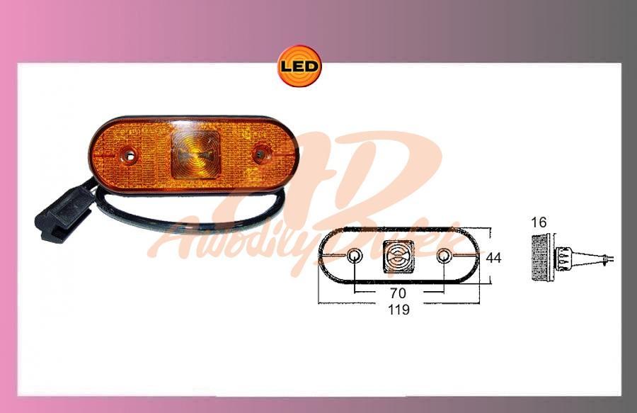 LED UNIPOINT oranž.24V/1,3 +kabel 1.5m