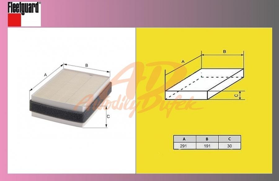 filtr pylový IVECO DAILY od 06-