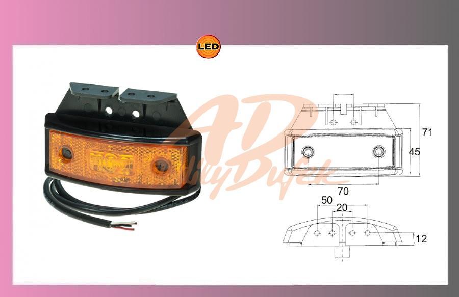 světlo LED-PRO-SML oranž.10-32V/1,3W