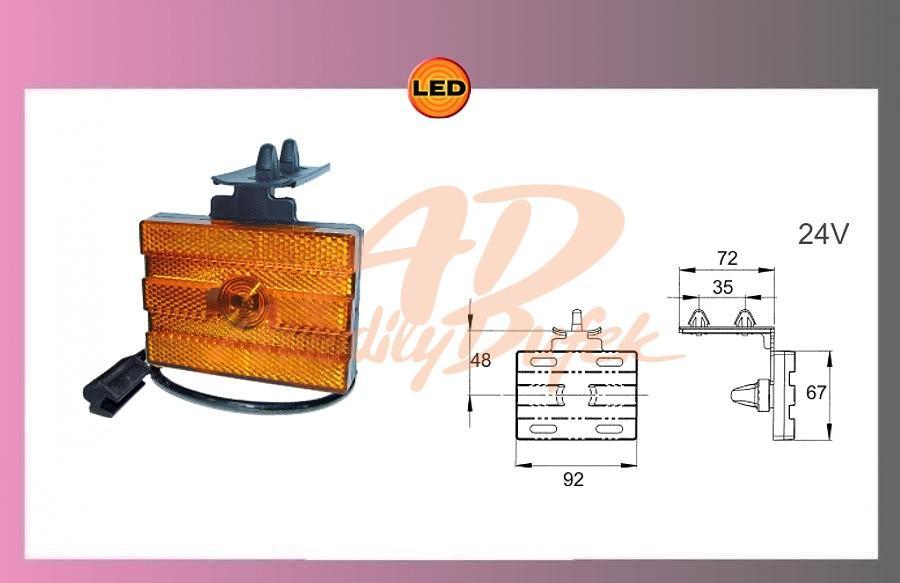 světlo LED oranž.24V KOEGEL-+kabel