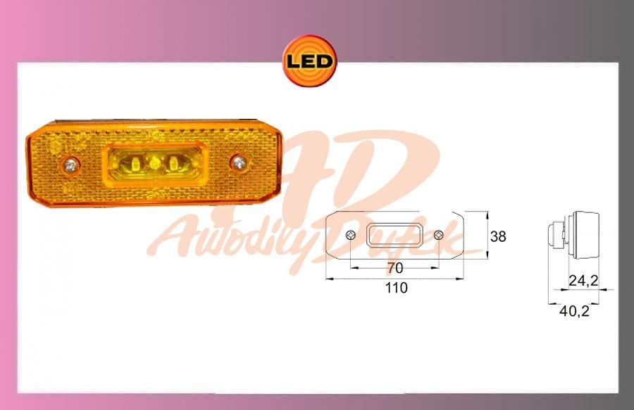světlo LED-oranž.24V/0,55w
