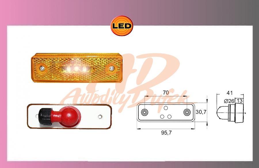 světlo LED oranž.24V