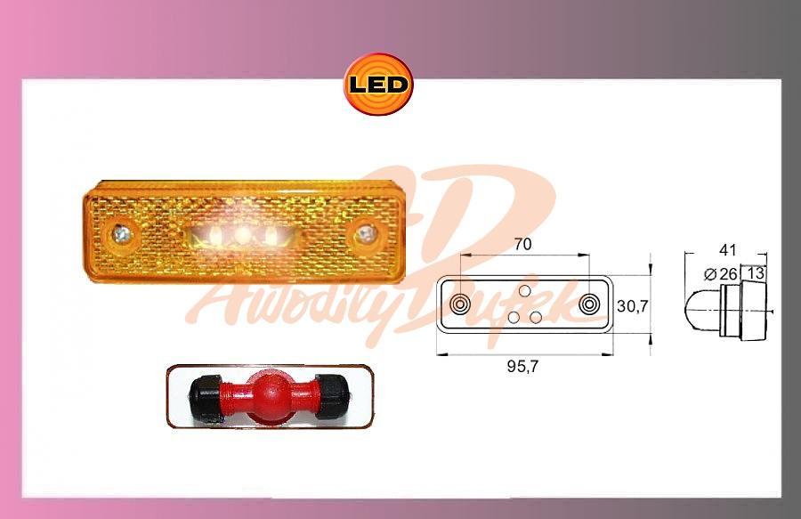 světlo LED oranž.12V T-spojka