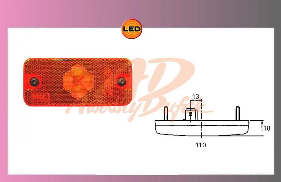 světlo LED-oranž.24V vestavba