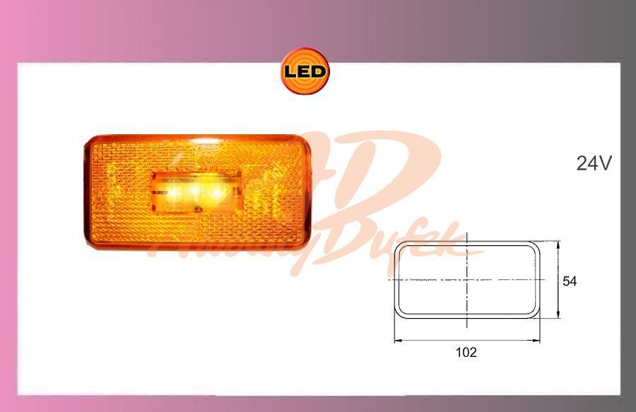 světlo LED-oranž.24V-SCANIA