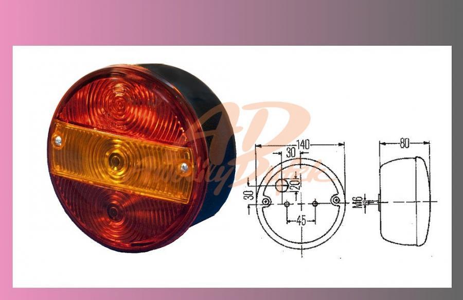 lampa zadní AVIA-UNIVERZAL L+P /SPZ/