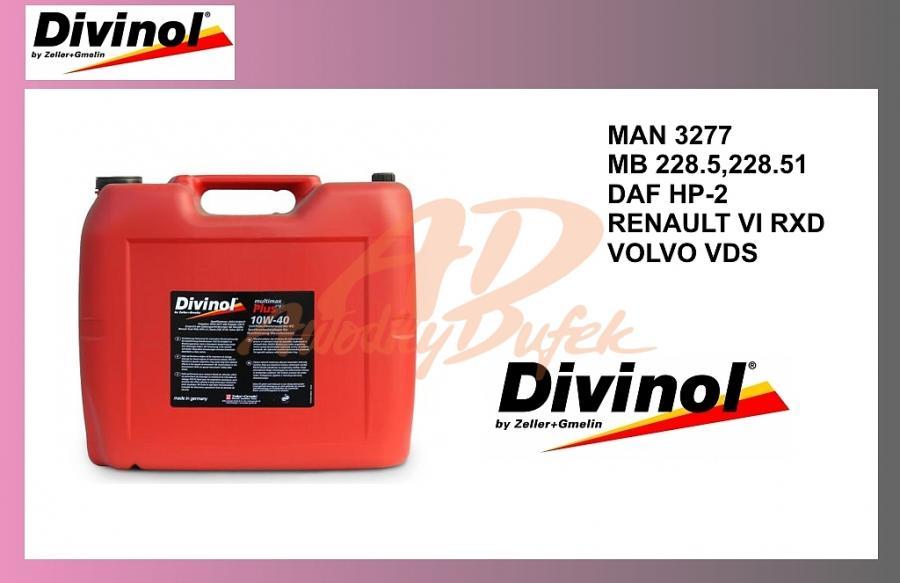 olej mot.DIVINOL 10W40-20l-PLUS-syntetic