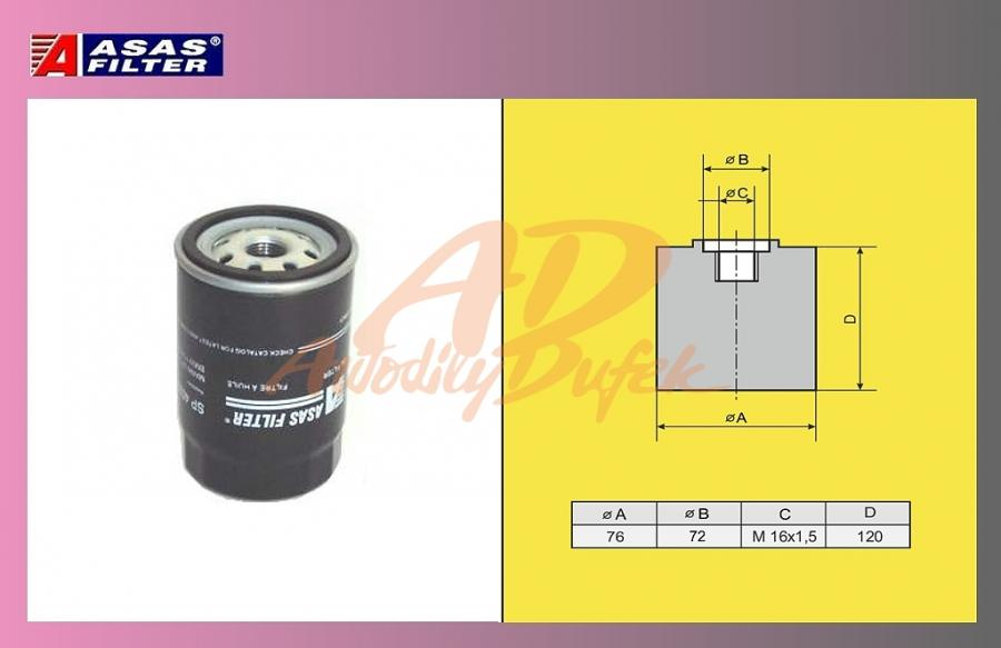 filtr naftový VOLVO F12,Scania,Renault