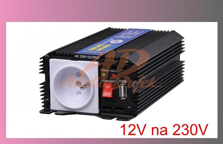 měnič napětí /z 12V na 230V/-300W