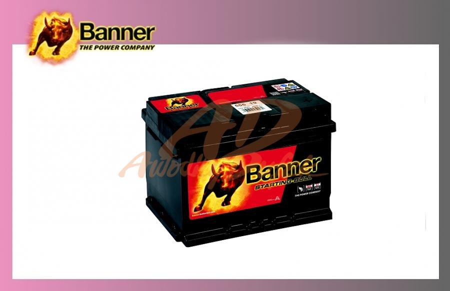 baterie BANNER 55Ah/12V/450A Start.Bull
