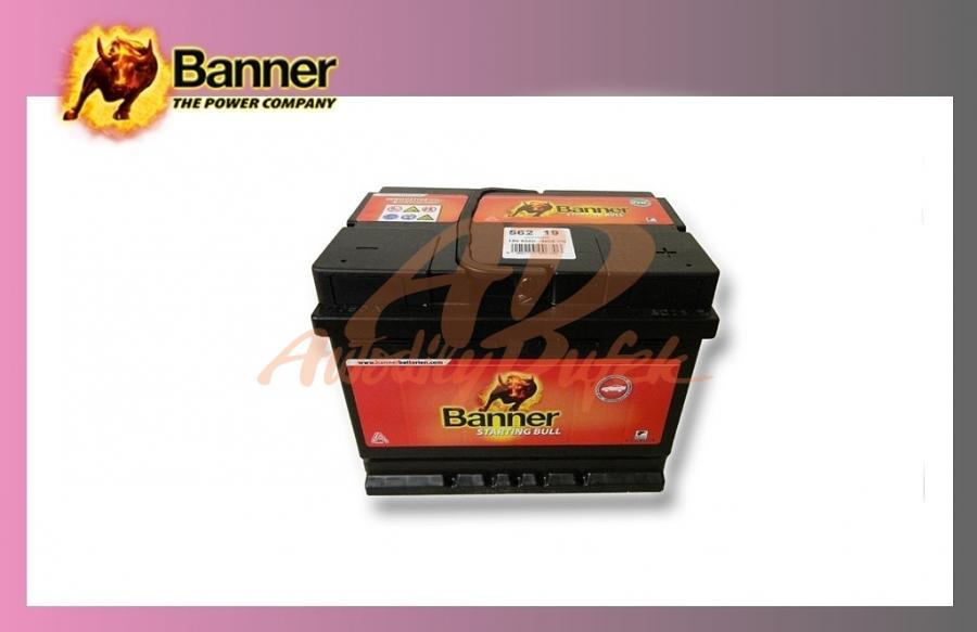 baterie BANNER 62Ah/12V/480A Start.Bull
