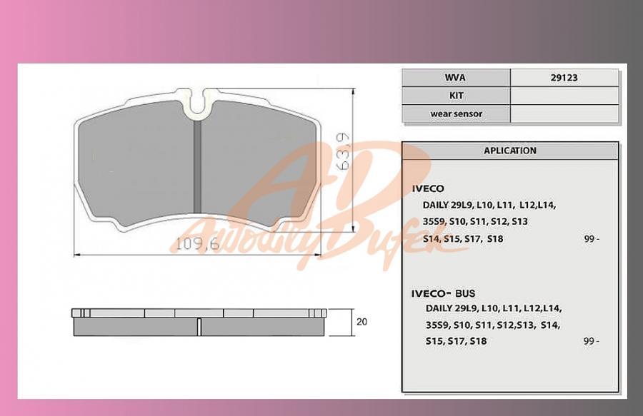 desky brzdové IVECO DAILY 35-50-zadní