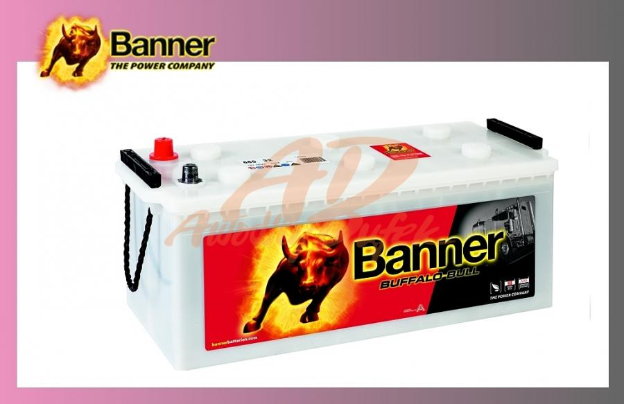 baterie BANNER 180Ah/12V/ 900A Buff.Bull