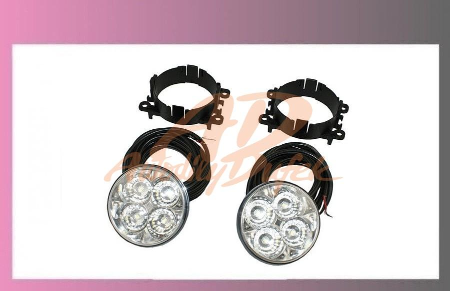 denní svícení 12/24V-LED-kulaté