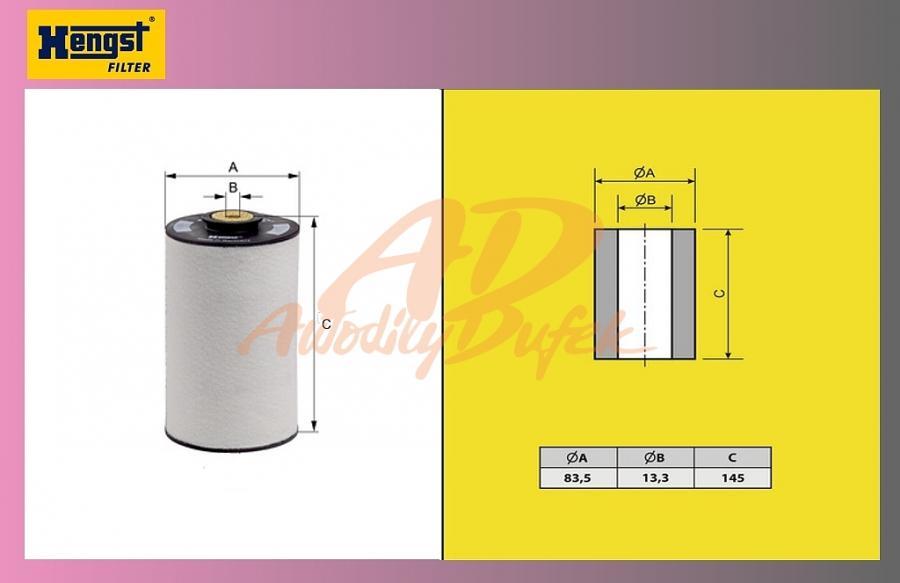 filtr naftový MB-1824-1840-HENGST