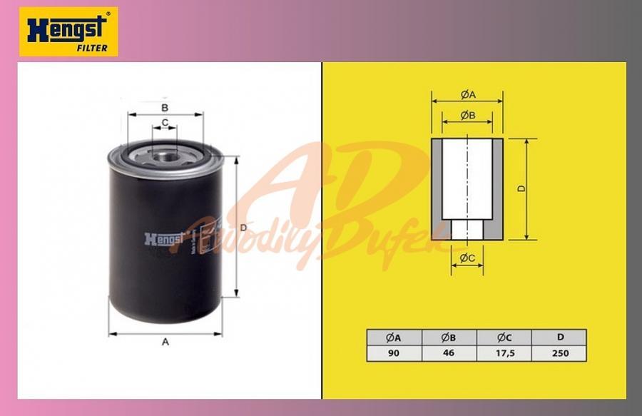 filtr naftový DAF 95XF 04-Euro 3