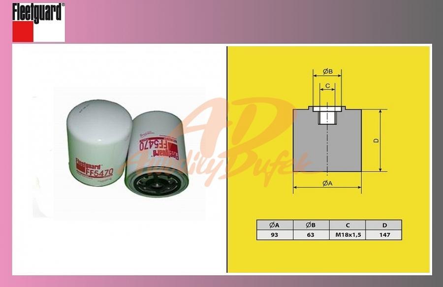 filtr naftový RENAULT PREMIUM 420DCI