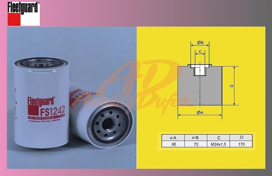 filtr naftový KAROSA C954-RENAULT-odluč.