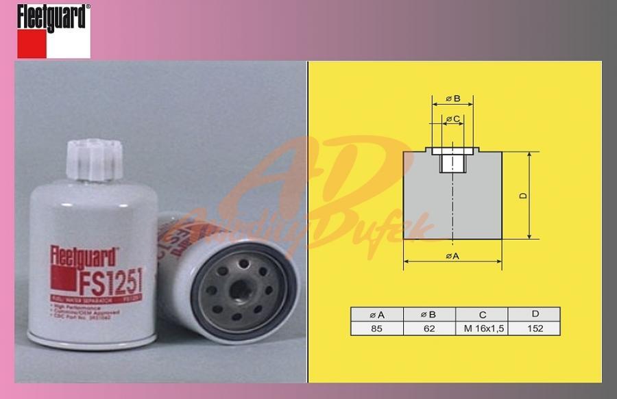 filtr naftový MB ATEGO-odluč.