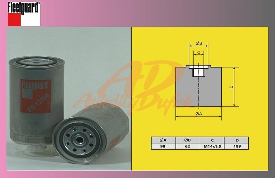 filtr naftový IVECO ETECH,ECAR,ETRAK-