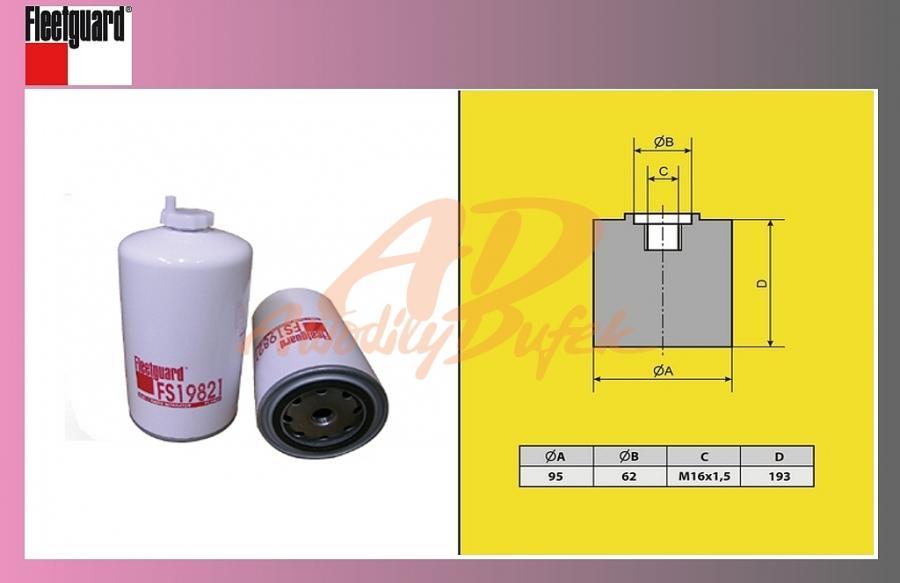 filtr naftový IVECO ETRAKKER-/u nádrže/