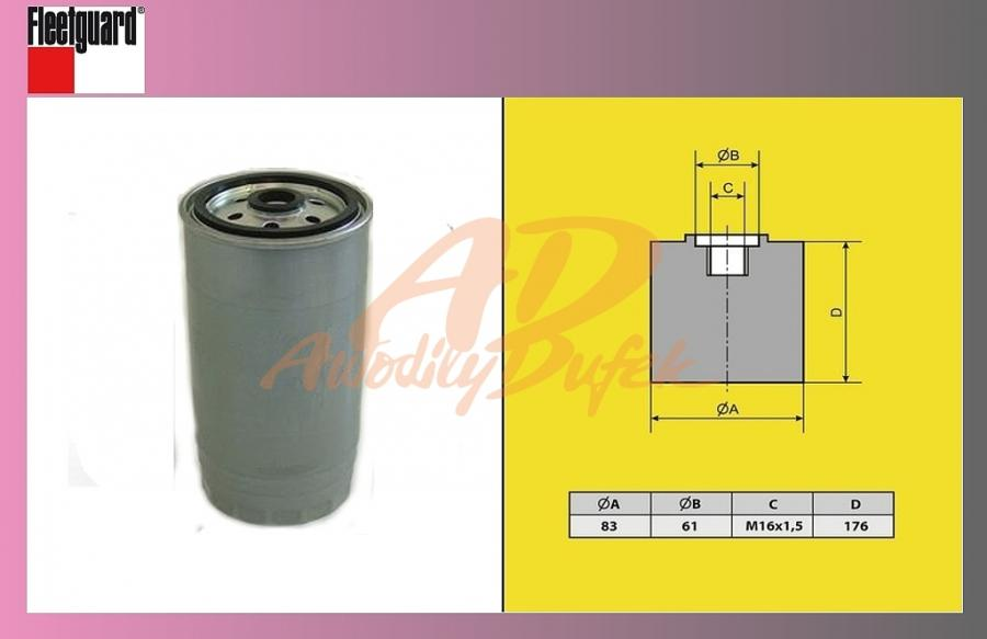 filtr naftový RENAULT MASCOT