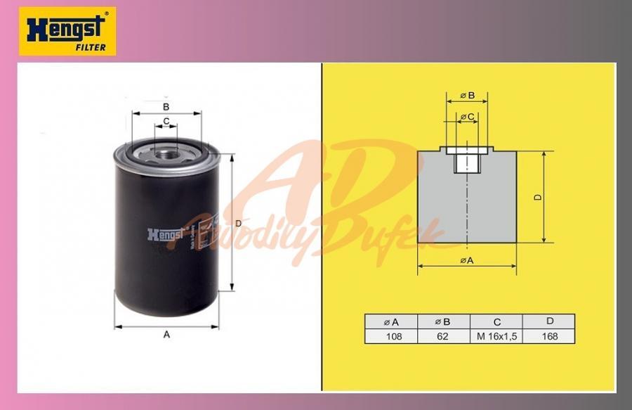 filtr naftový DAF 95XF EURO-HENGST-